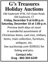 G's Treasures Holiday Auctions