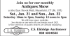Join us for our monthly Antiques Show
