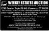 Weston's Weekly Walk Around Auction Every Tuesday Morning