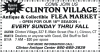 CLINTON VILLAGE Antique & Collectible FLEA MARKET