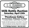 E.S. Eldridge Milk Bottle Auction