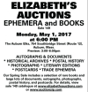 ELIZABETH'S AUCTIONS EPHEMERA and BOOKS