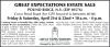 POUND RIDGE, N.Y. (ZIP 10576) GREAT EXPECTATIONS ESTATE SALE