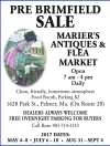 MARIER'S ANTIQUES & FLEA MARKET PRE BRIMFIELD SALE