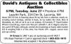 David's Antiques & Collectibles Auction