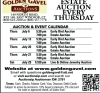 Golden Gavel ESTATE AUCTION EVERY THURSDAY