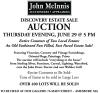 John McInnis DISCOVERY ESTATE SALE AUCTION
