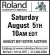 Roland AUGUST 2017 ESTATE AUCTION