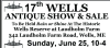 17th Annual Wells Antiques Show & Sale