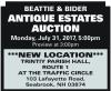BEATTIE & BIDER ANTIQUE ESTATES AUCTION