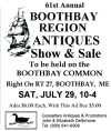 61st Annual Boothbay Region Antiques Show & Sale
