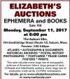 ELIZABETH'S AUCTIONS EPHEMERA and BOOKS