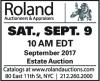 Roland September 2017 Estate Auction
