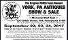 The Original 169th Semi-Annual YORK, PA ANTIQUES SHOW & SALE
