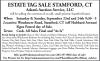 ESTATE TAG SALE STAMFORD, CT Adam's Auction Service, LL