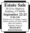 Redding CT Estate Sale