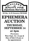 Gallery at Knotty Pine EPHEMERA AUCTION
