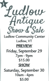 Ludlow Antique Show & Sale