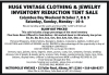 Huge Vintage Clothing & Jewelry Inventory Reduction Tent Sale