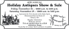 Orleans 40th Annual Holiday Antiques Show & Sale