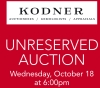 Kodner Auctioneers Unreserved Auction