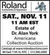 Roland Americana Collection Auction