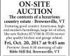 William Smith ONSITE AUCTION