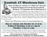 Trumbull, CT Warehouse Sale