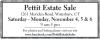 Pettit Estate Sale