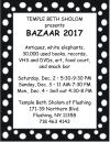 TEMPLE BETH SHOLOM Presents BAZAAR 2017