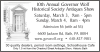 10th Annual Governor Wolf Historical Society Antiques Show