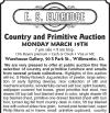 E.S. Eldridge Country and Primitive Auction