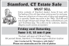 "Stamford, CT Estate Sale By ""Reminisce with Kathy"""