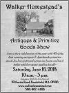Walker Homestead's Antiques & Primitive Goods Show
