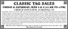 SCARSDALE, NY sale BY CLASSIC TAG SALES