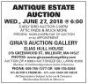 Gina's ANTIQUE ESTATE AUCTION