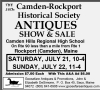 39th Camden-Rockport Historical Society ANTIQUES SHOW & SALE