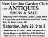 51st New London Garden Club ANTIQUES SHOW & SALE