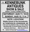 90th Annual KENNEBUNK ANTIQUES SHOW & SALE