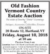 William Smith Old Fashion Vermont Country Estate Auction