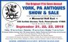 The Original 171st Semi-Annual YORK, PA ANTIQUES SHOW & SALE