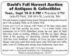 David's Fall Harvest Auction