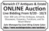 Norwich CT Antiques & Estate ONLINE Auction