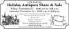 Orleans 41st Annual Holiday Antiques Show & Sale
