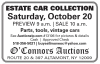 O'Connors Auctions Estate Car Collection