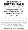 New Rochelle, NY ESTATE SALE