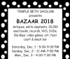 TEMPLE BETH SHOLOM Presents BAZAAR 2018