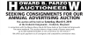 Howard B Parzow Seeking Consignments for Annual Advertising Auction