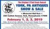 The Original 172nd Semi-Annual YORK, PA ANTIQUES SHOW & SALE