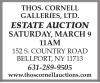 Thos Cornell Galleries Estate Auction